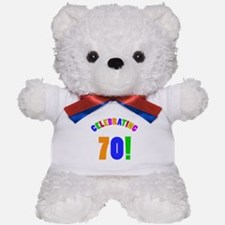Rainbow 70th Birthday Party Teddy Bear