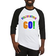 Rainbow 60th Birthday Party Baseball Jersey