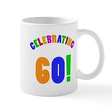 Rainbow 60th Birthday Party Mug