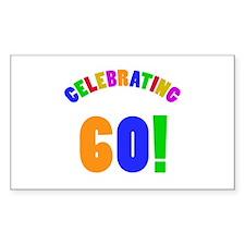 Rainbow 60th Birthday Party Decal