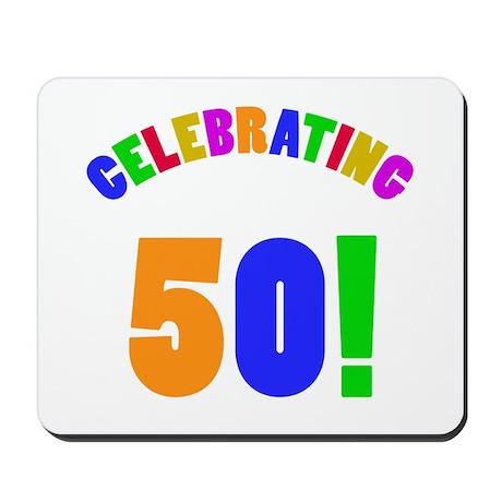 Rainbow 50th Birthday Party Mousepad