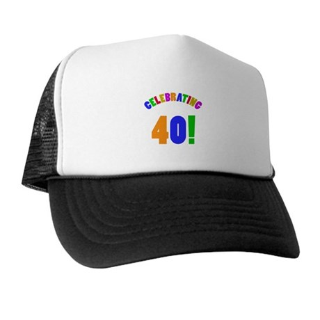 Rainbow 40th Birthday Party Trucker Hat
