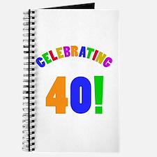 Rainbow 40th Birthday Party Journal