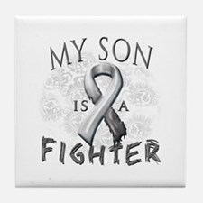 My Son Is A Fighter Tile Coaster