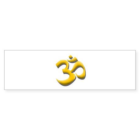 Yellow Om Sticker (Bumper)