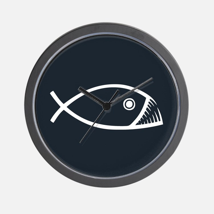 Evolution Fish Wall Clock