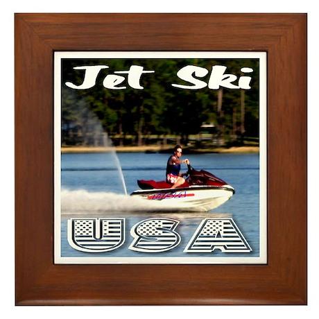 Jet Ski USA Framed Tile