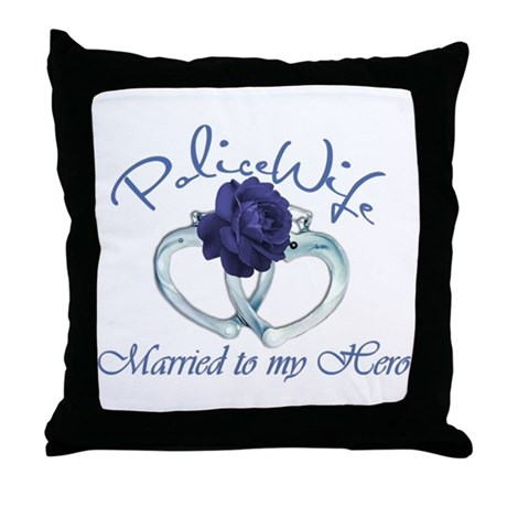 PoliceWife: Married My Hero Throw Pillow