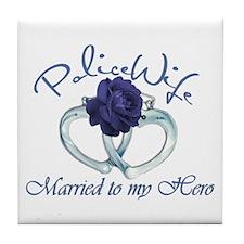 PoliceWife: Married My Hero Tile Coaster