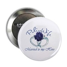 "PoliceWife: Married My Hero 2.25"" Button"