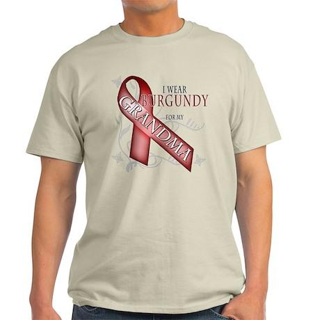 I Wear Burgundy for my Grandma Light T-Shirt