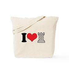 I Love Castle Tote Bag