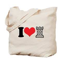 I Love Castle Tote Bag