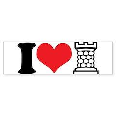 I Love Castle Sticker (Bumper)