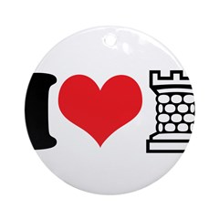 I Love Castle Ornament (Round)