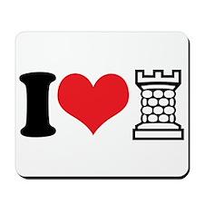 I Love Castle Mousepad