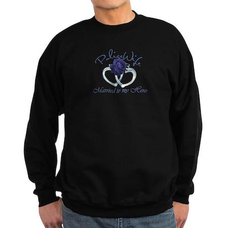 PoliceWife: Married My Hero Sweatshirt (dark)