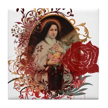 St. Therese Tile Coaster