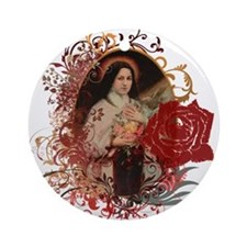 St. Therese Ornament (Round)