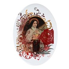 St. Therese Ornament (Oval)