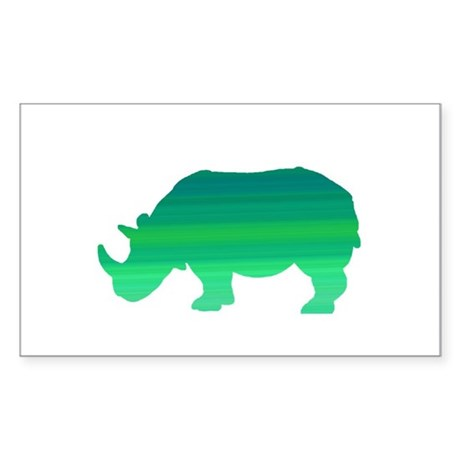Rhino Sticker (Rectangle)
