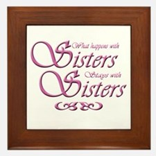 Sisters Framed Tile