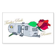 Trailer Park Romeo Rectangle Decal