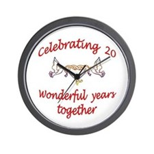 20th wedding anniversary Wall Clock