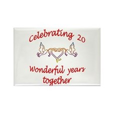 Unique 20 year anniversary Rectangle Magnet (10 pack)
