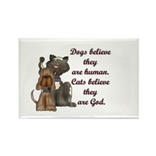 Difference Between Dogs & Cat Rectangle Magnet