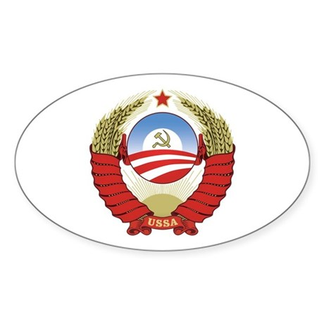 USSA [coat of arms] Sticker (Oval)