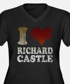 I heart Richard Castle Women's Plus Size V-Neck Da
