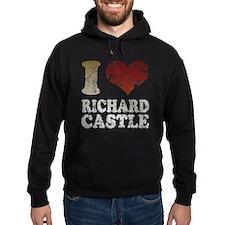I heart Richard Castle Hoodie
