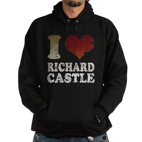 I heart Richard Castle Hoodie (dark)