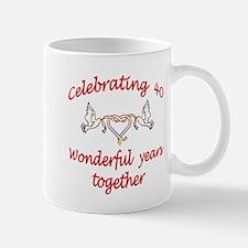 Fortieth anniversary Mug