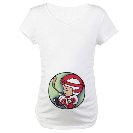 Hockey Player Inside Maternity T-Shirt