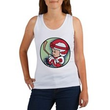 Hockey Player Inside Women's Tank Top