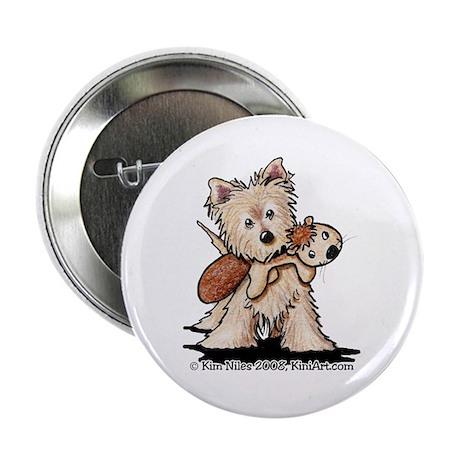 """Cairn w/ Chipmunk Toy 2.25"""" Button (100 pack)"""