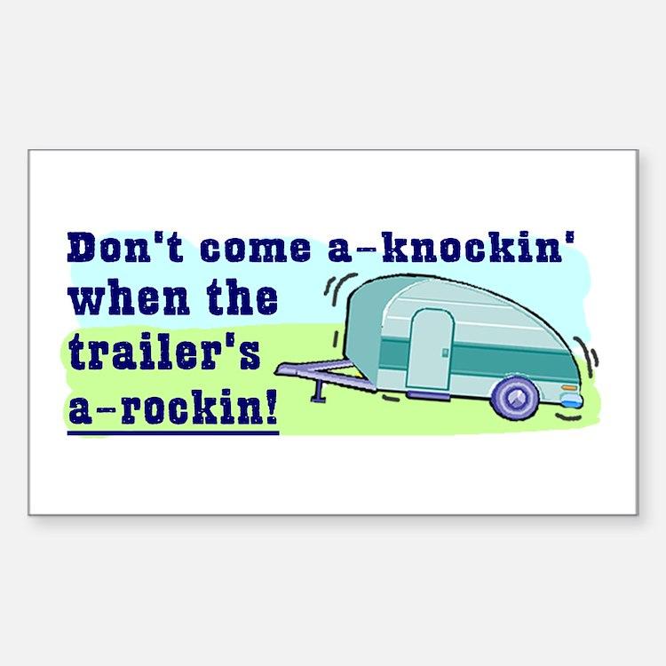 Don't Come A-Knockin Rectangle Bumper Stickers