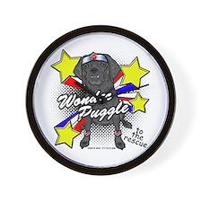 Wonder Puggle Wall Clock