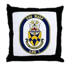 LHD 1 USS Wasp Throw Pillow