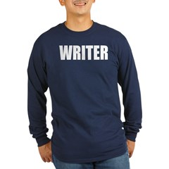 "Castle ""WRITER"" Long Sleeve Dark T-Shirt"