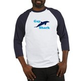 Dolphins are just gay sharks Baseball Tee