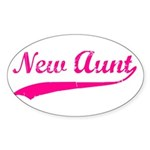 New Aunt Sticker (Oval)