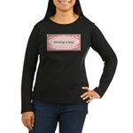 Reading Is Sexy Women's Long Sleeve Dark T-Shirt