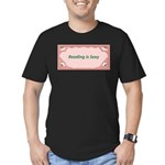 Reading Is Sexy Men's Fitted T-Shirt (dark)