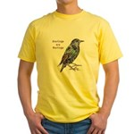 Starlings Are Darlings Yellow T-Shirt