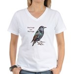 Starlings Are Darlings Women's V-Neck T-Shirt