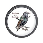 Starlings Are Darlings Wall Clock