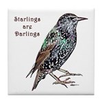 Starlings Are Darlings Tile Coaster